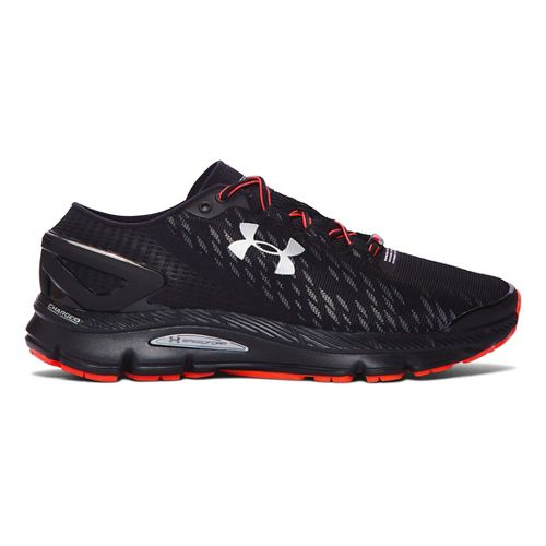 Mens Under Armour Speedform Gemini 2 Night Record Running Shoe - Black/Stealth Grey 8.5