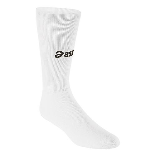 ASICS All Sport Court Knee High 3 Pack Socks - White L