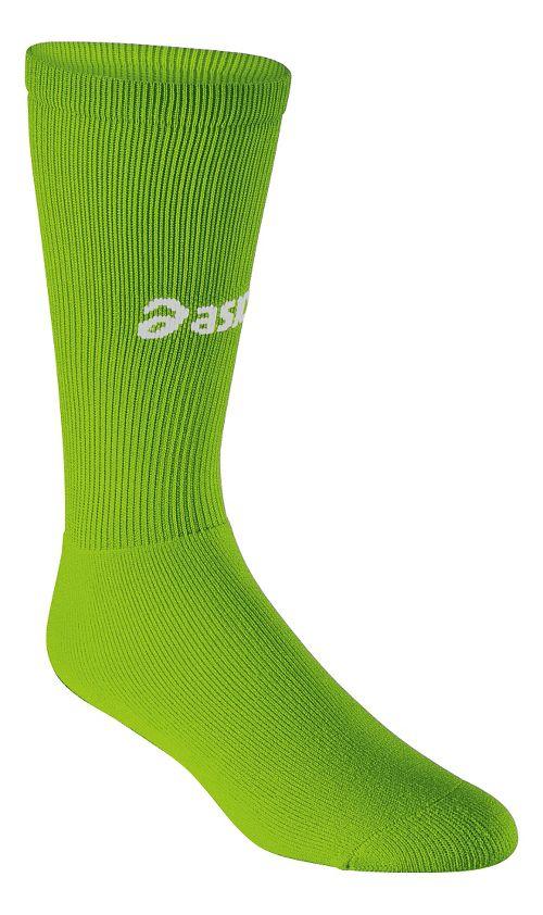 ASICS All Sport Court Knee High 3 Pack Socks - Neon Green L