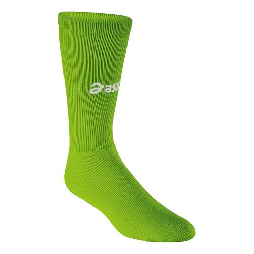 ASICS All Sport Court Knee High 3 Pack Socks - Neon Green XL