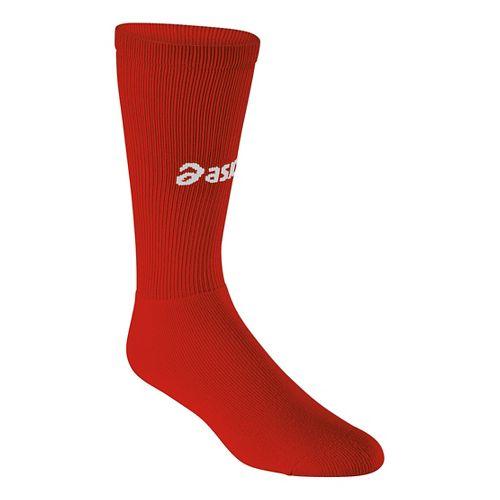 ASICS All Sport Court Knee High 3 Pack Socks - Red L
