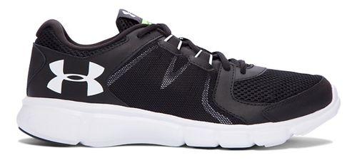 Mens Under Armour Thrill 2  Running Shoe - Black/White 10.5