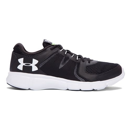 Mens Under Armour Thrill 2 Running Shoe - Black/White 12.5