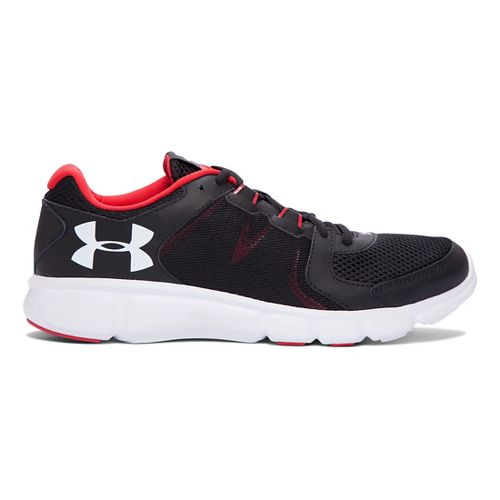 Mens Under Armour Thrill 2 Running Shoe - Black/Red 10