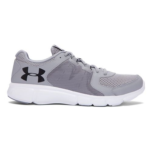 Mens Under Armour Thrill 2  Running Shoe - Steel/White 8
