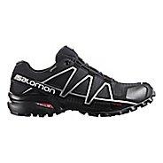 Mens Salomon Speedcross 4 GTX Trail Running Shoe - Black/Silver 8