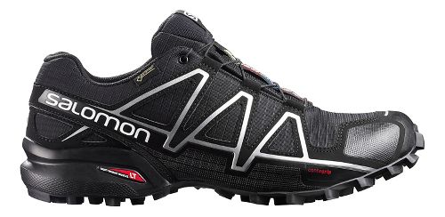 Salomon Mens Speedcross 4 GTX Trail Running Shoe - Black/Silver 7.5