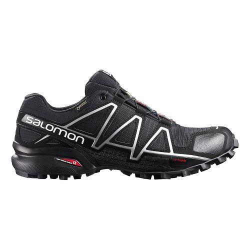 Salomon Mens Speedcross 4 GTX Trail Running Shoe - Black/Silver 7