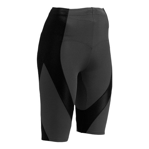 Womens CW-X Endurance Pro Compression & Fitted Shorts - Black/Grey/Turquoise S