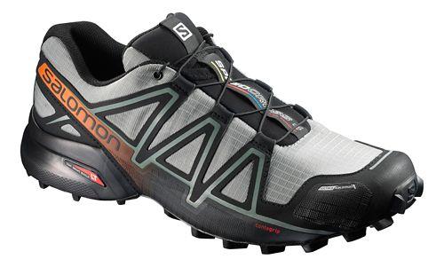 Salomon Mens Speedcross 4 CS Trail Running Shoe - Grey/Black 12.5