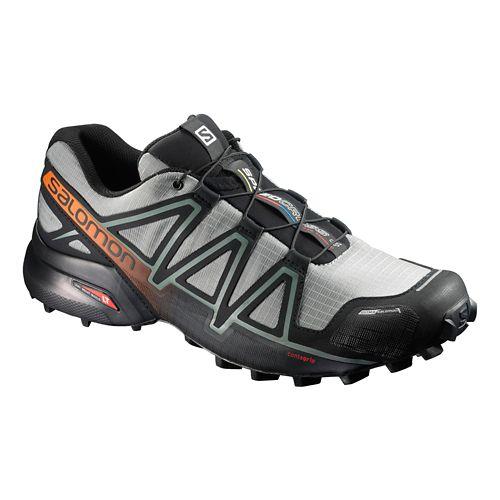 Salomon Mens Speedcross 4 CS Trail Running Shoe - Grey/Black 8.5