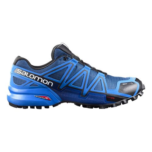 Salomon Mens Speedcross 4 CS Trail Running Shoe - Blue/Black 7