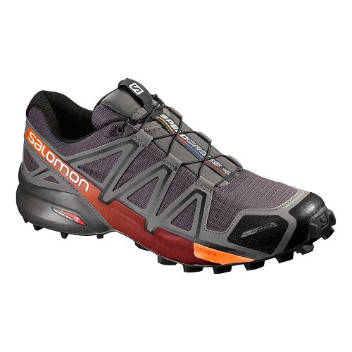 Salomon Mens Speedcross 4 CS Trail Running Shoe - Autobahn/Orange Rust 9