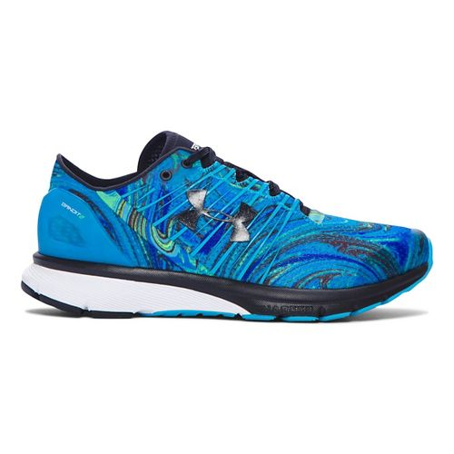 Womens Under Armour Charged Bandit 2 Psychedelic Running Shoe - Meridian Blue/White 8