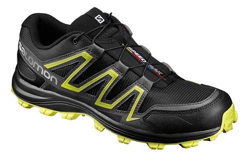 Salomon Mens Speedtrack Trail Running Shoe - Black/Yellow 8