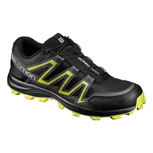 Salomon Mens Speedtrack Trail Running Shoe - Black/Yellow 8