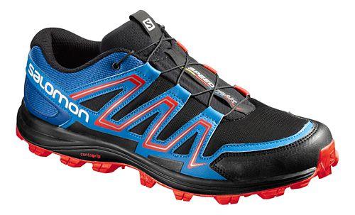 Salomon Mens Speedtrack Trail Running Shoe - Black/Blue 8.5