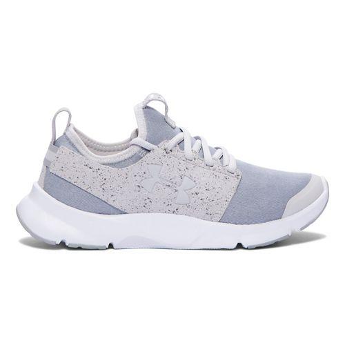 Womens Under Armour Drift RN Mineral Running Shoe - Glacier Grey/White 8.5