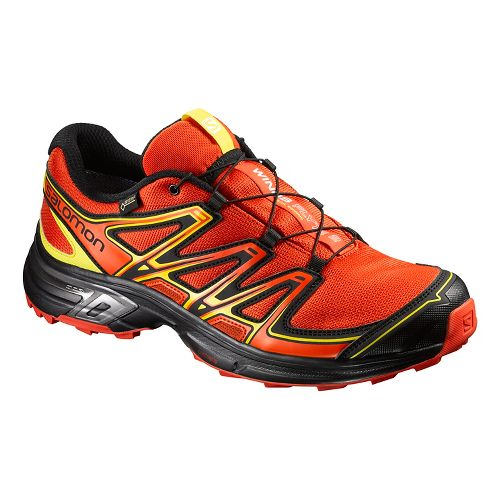 Salomon Mens Wings Flyte 2 GTX Trail Running Shoe - Orange/Black/Yell 13