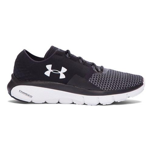 Womens Under Armour Speedform Fortis 2 Running Shoe - Black/White 6