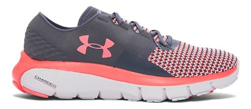 Womens Under Armour Speedform Fortis 2 Running Shoe - Stealth Grey/Pink 6.5