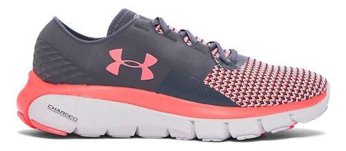 Womens Under Armour Speedform Fortis 2 Running Shoe - Stealth Grey/Pink 9