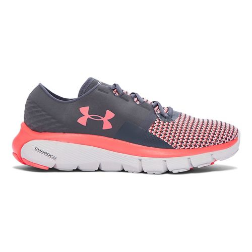 Womens Under Armour Speedform Fortis 2 Running Shoe - Stealth Grey/Pink 7