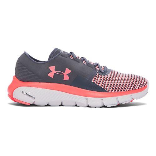 Womens Under Armour Speedform Fortis 2 Running Shoe - Stealth Grey/Pink 7