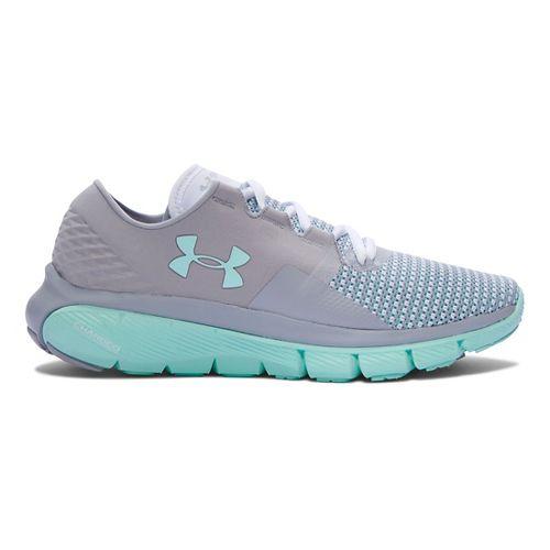 Womens Under Armour Speedform Fortis 2 Running Shoe - Grey/Crystal 6