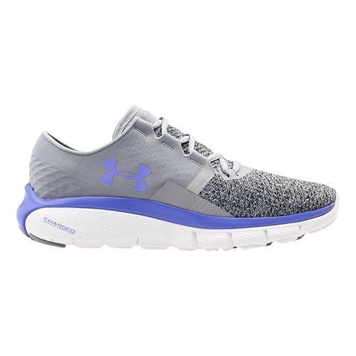Womens Under Armour Speedform Fortis 2 TXTR Running Shoe - Steel/Violet 9