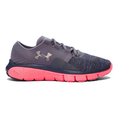 Womens Under Armour Speedform Fortis 2 TXTR Running Shoe - Graphite/Brilliance 6.5