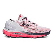Womens Under Armour Speedform Gemini 2.1 Running Shoe - Glacier Grey/Pink 9