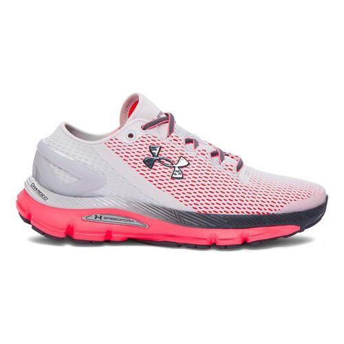 Womens Under Armour Speedform Gemini 2.1 Running Shoe - Glacier Grey/Pink 9