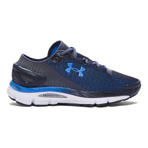 Womens Under Armour Speedform Gemini 2.1 Running Shoe - Stealth Grey/Water 9.5
