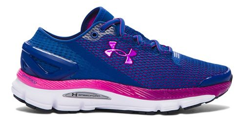 Womens Under Armour Speedform Gemini 2.1 Running Shoe - Heron/Purple 7.5