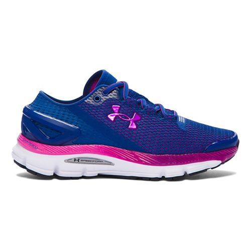Womens Under Armour Speedform Gemini 2.1 Running Shoe - Heron/Purple 6.5