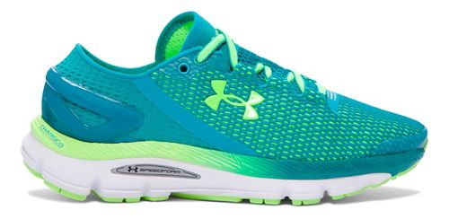 Womens Under Armour Speedform Gemini 2.1 Running Shoe - Teal/Lime 10