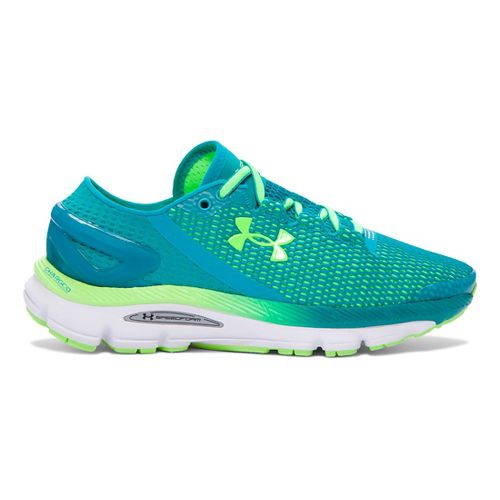 Womens Under Armour Speedform Gemini 2.1 Running Shoe - Teal/Lime 6