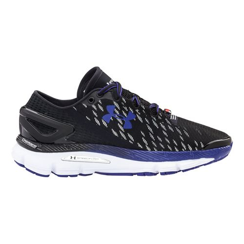 Womens Under Armour Speedform Gemini 2 Night Record Running Shoe - Black/Grape Fusion 11