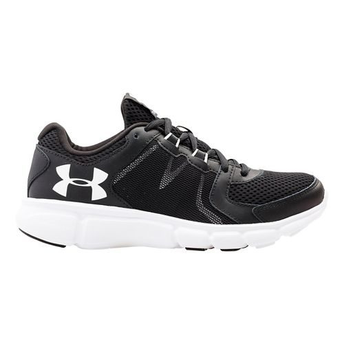 Womens Under Armour Thrill 2 Running Shoe - Black/Stealth Grey 5