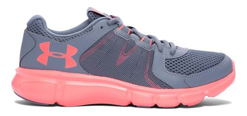Womens Under Armour Thrill 2  Running Shoe - Gravel/Pink Chroma 6