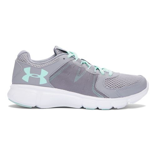 Womens Under Armour Thrill 2 Running Shoe - Steel/Crystal 5.5