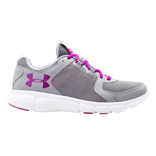 Womens Under Armour Thrill 2 Running Shoe - Steel/Purple 7.5
