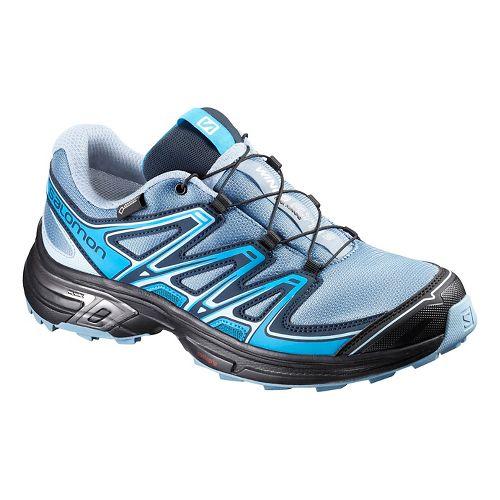 Salomon Womens Wings Flyte 2 GTX Trail Running Shoe - White/Pink 10.5