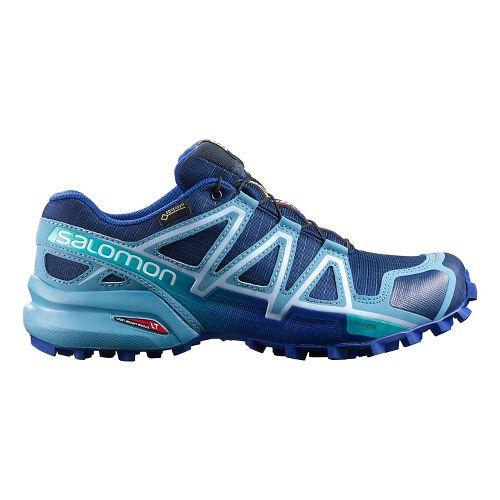 Salomon Womens Speedcross 4 GTX Trail Running Shoe - Blue Depth 9.5