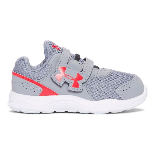 Under Armour INF Engage BL 3 AC  Running Shoe - Steel/Anthem Red 7C