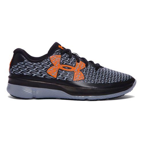 Kids Under Armour ClutchFit RebelSpeed Running Shoe - Black/Blaze Orange 4Y