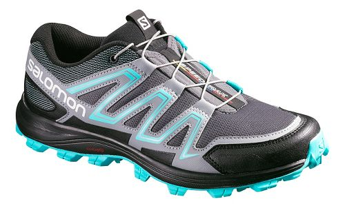 Womens Salomon Speedtrack Trail Running Shoe - Dark Cloud./Blue 8