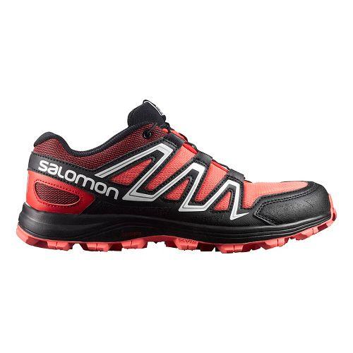 Salomon Womens Speedtrack Trail Running Shoe - Coral/Black 10.5