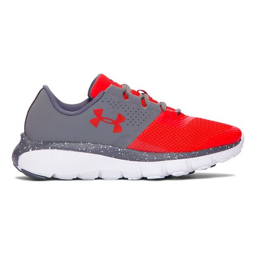 Kids Under Armour Fortis 2 Speckle Running Shoe - Graphite/Anthem Red 6Y